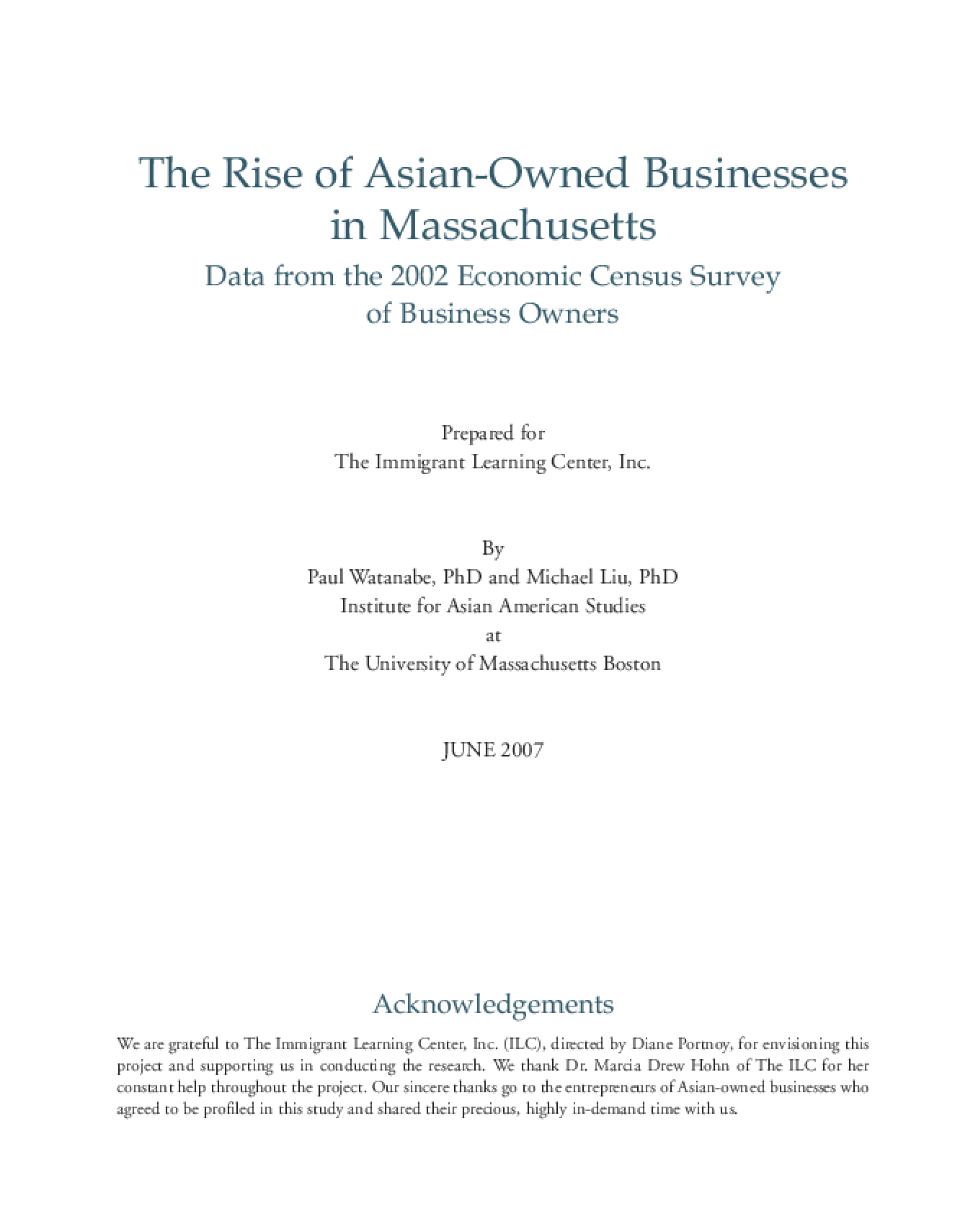 The Rise of Asian-Owned Businesses in Massachusetts