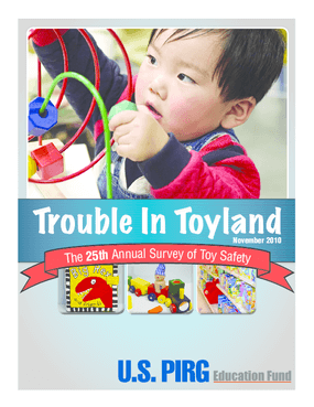 Trouble in Toyland: The 25th Annual Survey of Toy Safety