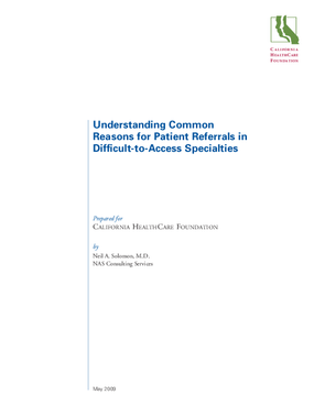 Understanding Common Reasons for Patient Referrals in Difficult-to-Access Specialties