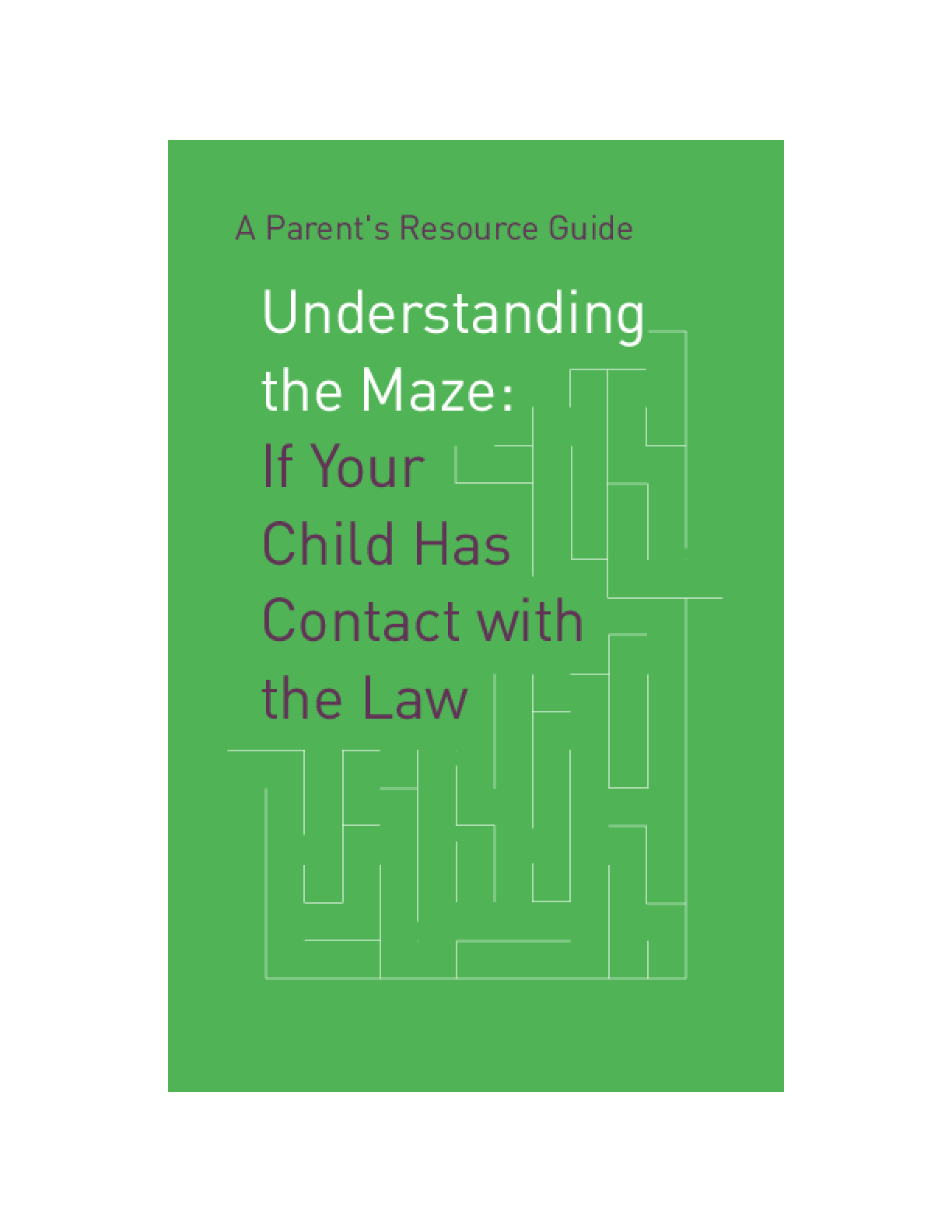 Understanding the Maze: If Your Child Has Contact With the Law