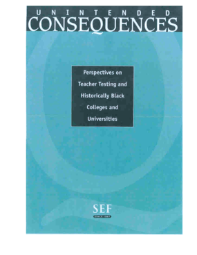 Unintended Consequences: Perspectives on Teacher Testing and Historically Black Colleges and Universities