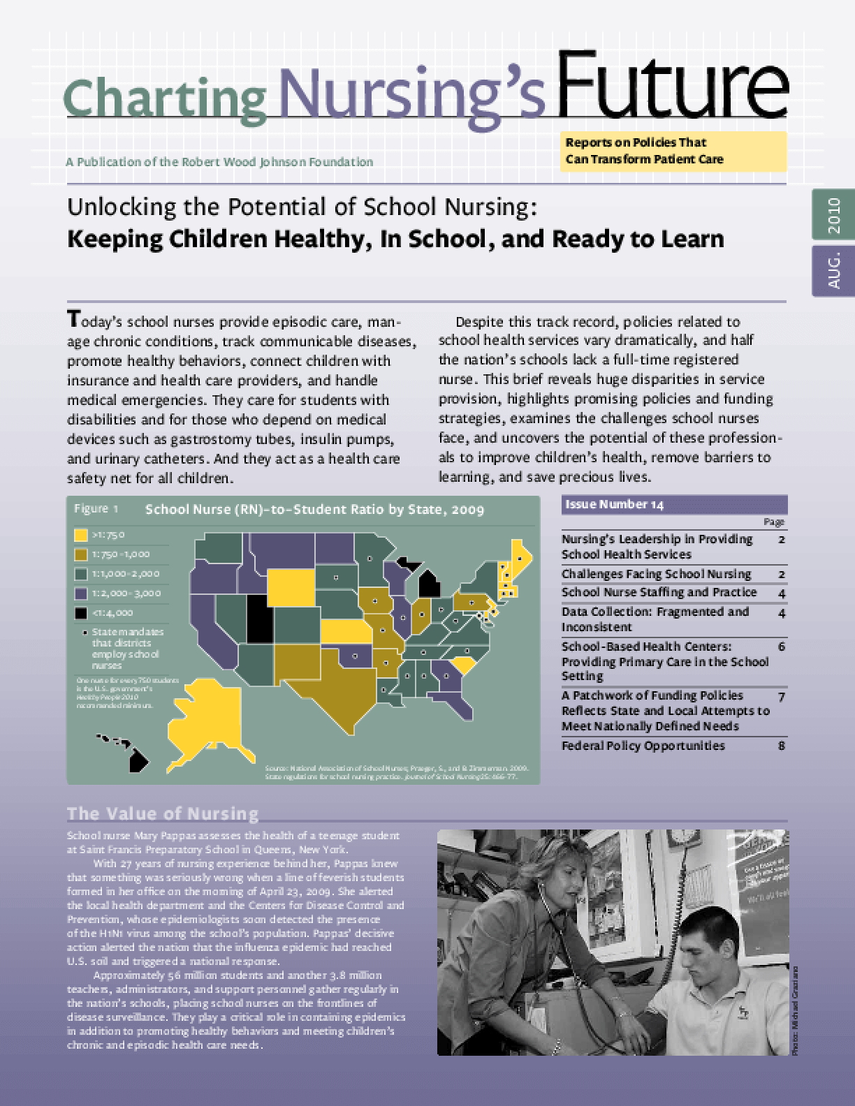 Unlocking the Potential of School Nursing: Keeping Children Healthy, in School, and Ready to Learn