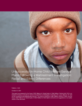 Unsuccessful In-Home Child Welfare Service Plans Following a Maltreatment Investigation: Racial and Ethnic Differences