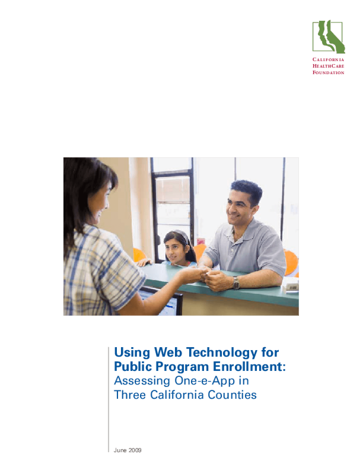 Using Web Technology for Public Program Enrollment: Assessing One-e-App in Three California Counties