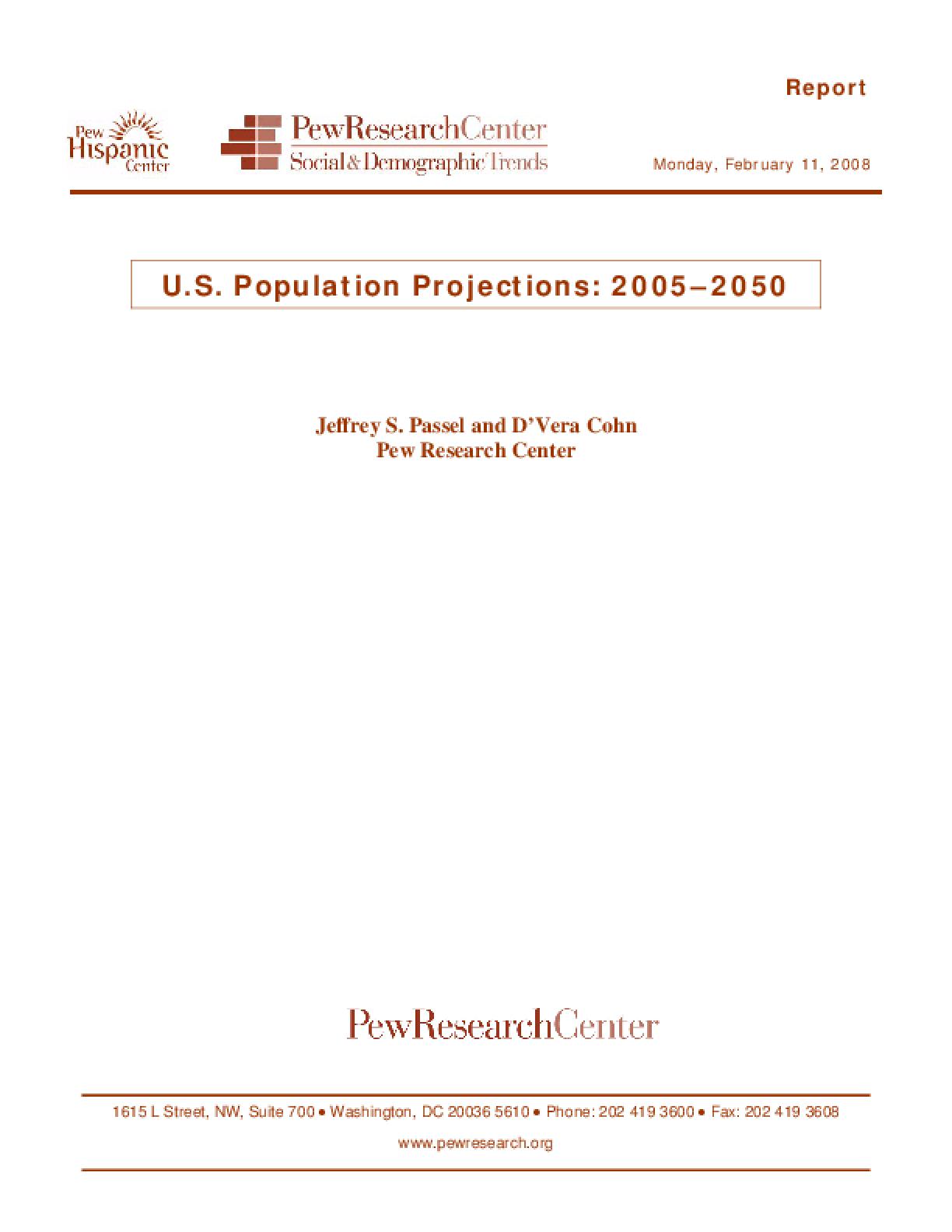 U.S. Population Projections: 2005-2050