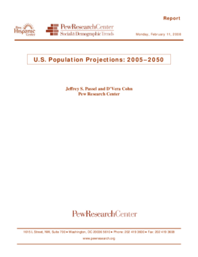 U.S. Population Projections: 2005-2050