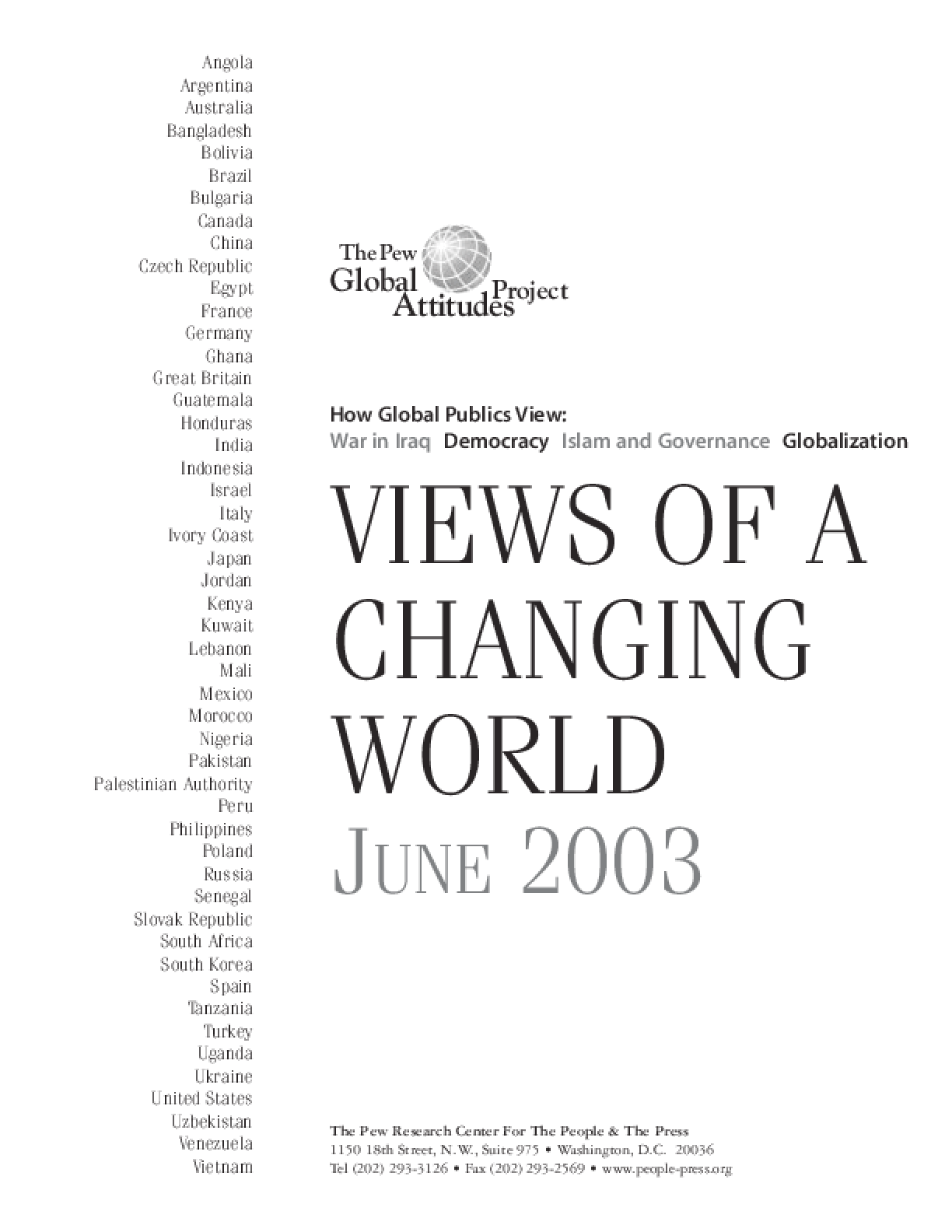 Views of a Changing World: June 2003