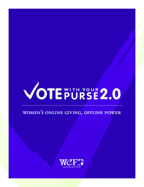 Vote With Your Purse 2.0: Women's Online Giving, Offline Power