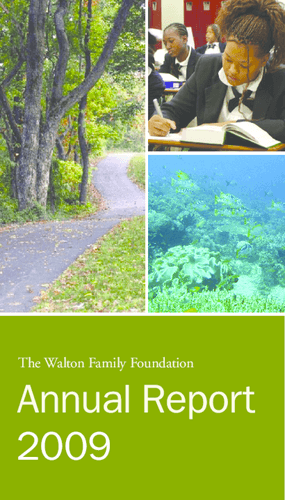 Walton Family Foundation - 2009 Annual Report