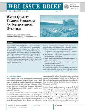 Water Quality Trading Programs: An International Overview