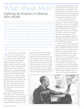 What About Men? Exploring the Inequities in Minority Men's Health
