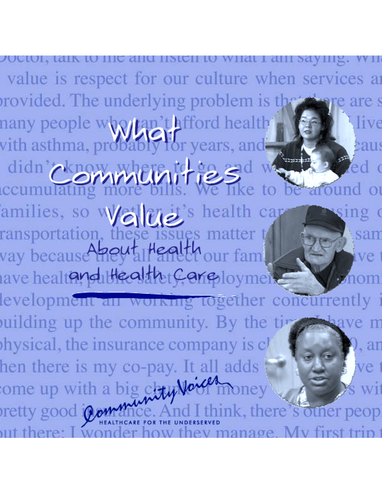 What Communities Value About Health and Health Care