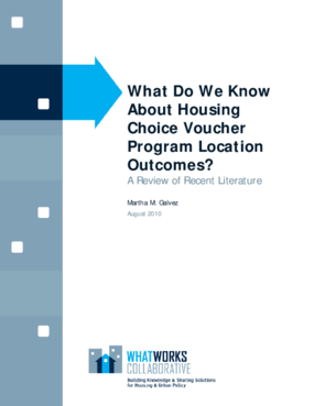 What Do We Know About Housing Choice Voucher Program Location Outcomes?