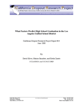 What Factors Predict High School Graduation in the Los Angeles Unified School District