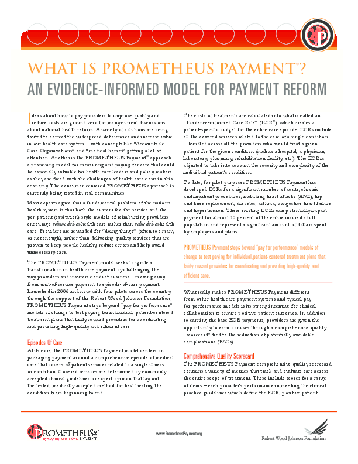 What Is Prometheus Payment? An Evidence-Informed Model for Payment Reform