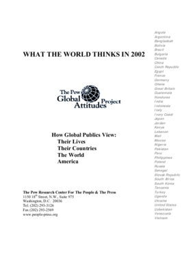 What the World Thinks in 2002