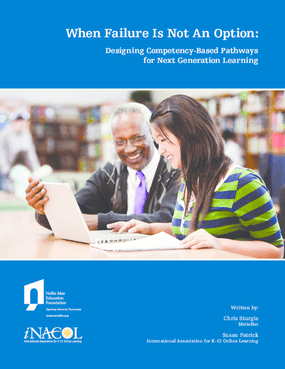 When Failure Is Not an Option: Designing Competency-Based Pathways for Next Generation Learning
