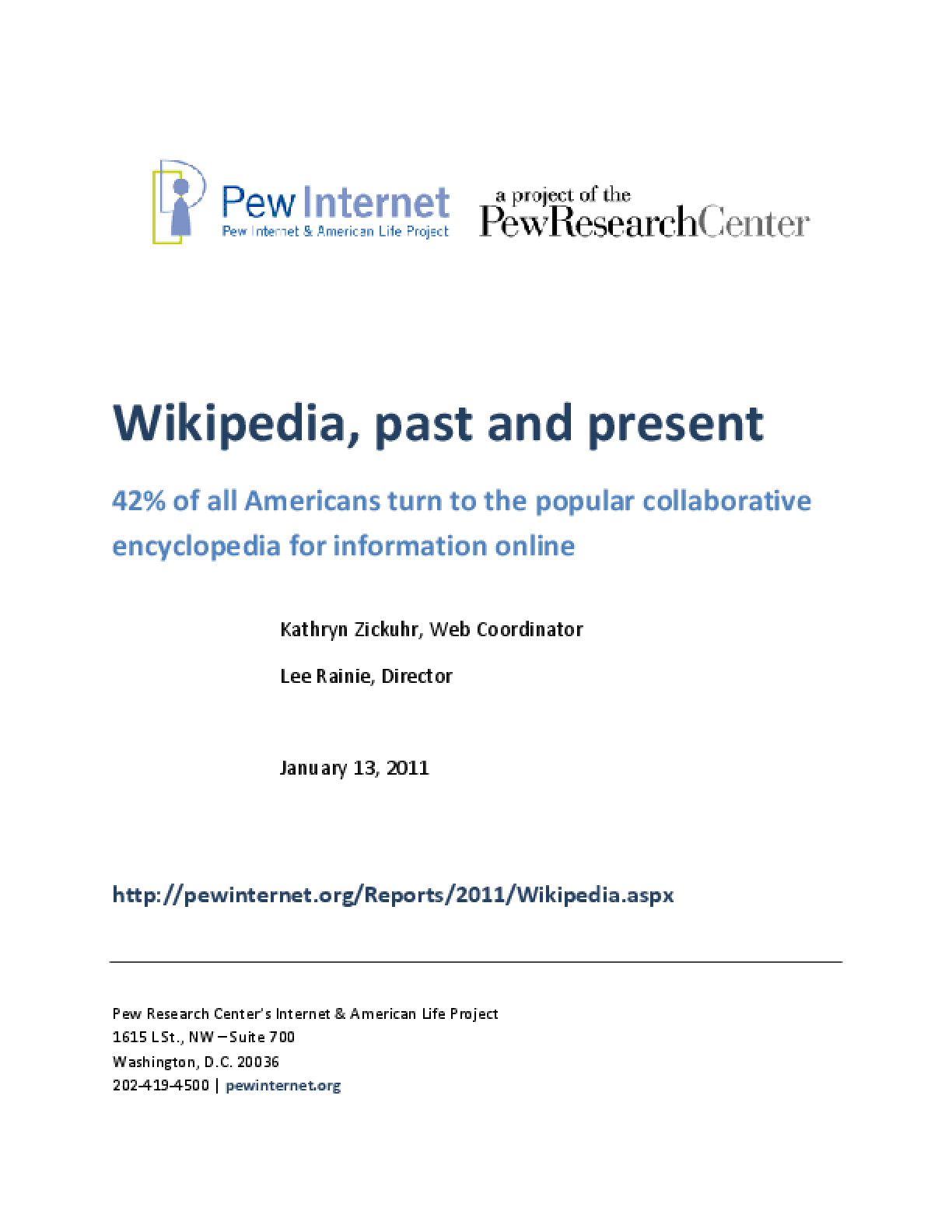 Wikipedia, Past and Present