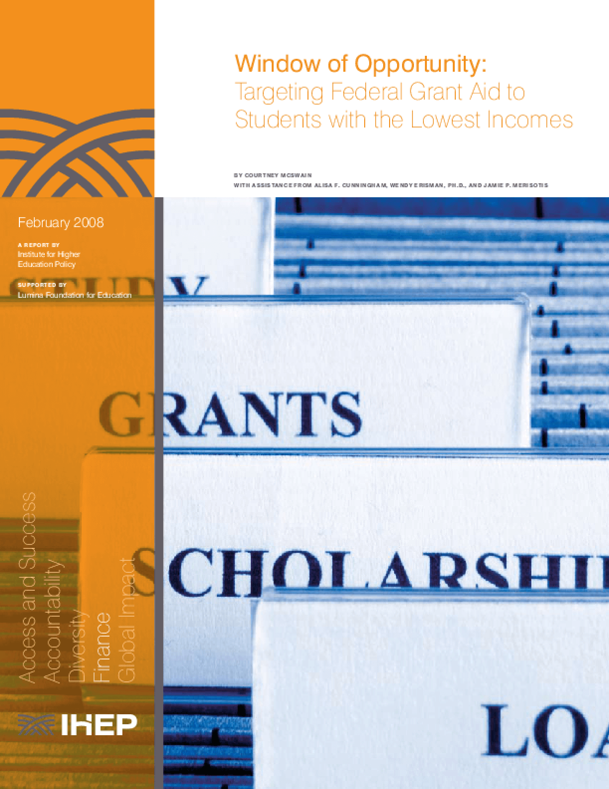 Window of Opportunity: Targeting Federal Grant Aid to Students With the Lowest Incomes