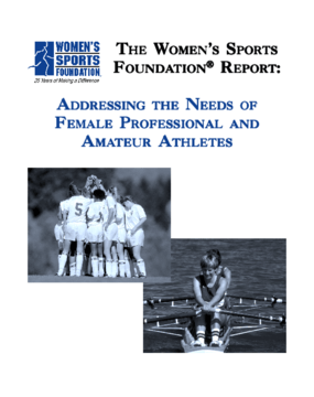 Addressing the Needs of Female Professional and Amateur Athletes