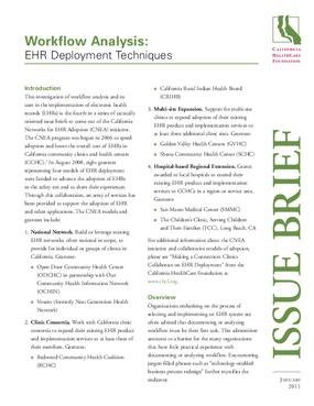 Workflow Analysis: EHR Deployment Techniques