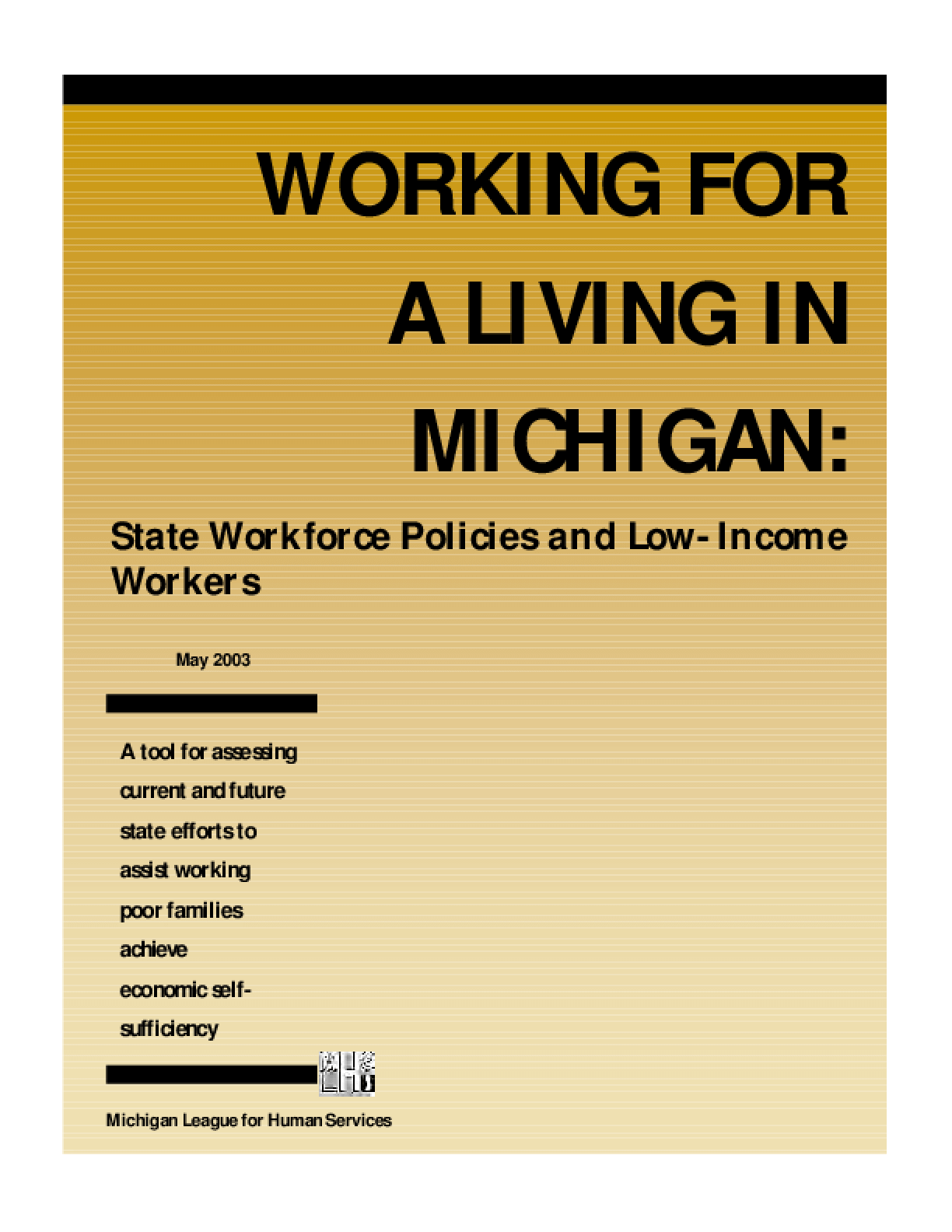 Working for a Living in Michigan: State Workforce Policies and Low-Income Workers
