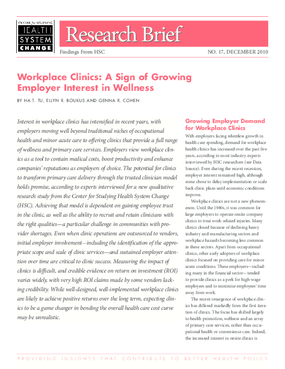 Workplace Clinics: A Sign of Growing Employer Interest in Wellness