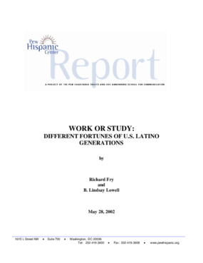 Work or Study: Different Fortunes of U.S. Latino Generations