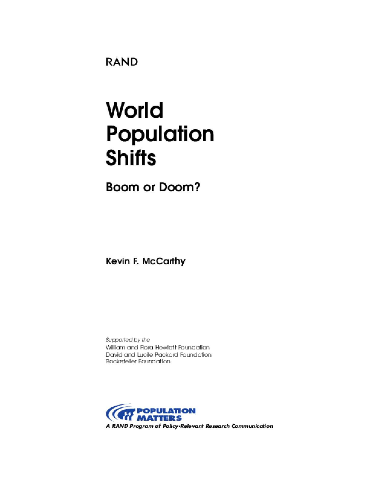 World Population Shifts: Boom or Doom?