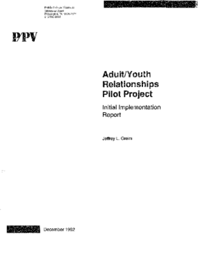 Adult/Youth Relationships Pilot Project: Initial Implementation Report