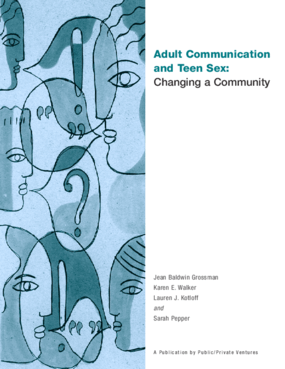 Adult Communication and Teen Sex: Changing a Community