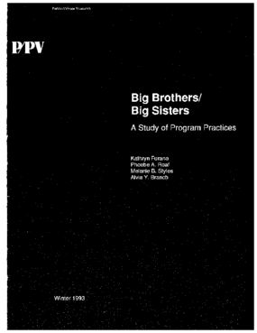 Big Brothers/Big Sisters: A Study of Program Practices