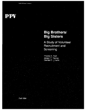 Big Brothers/Big Sisters: A Study of Volunteer Recruitment and Screening