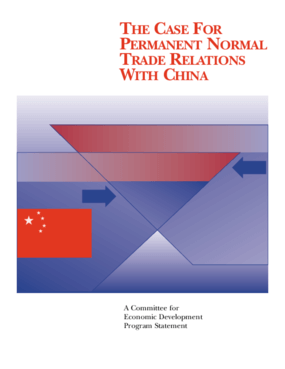The Case for Permanent Normal Trade Relations with China