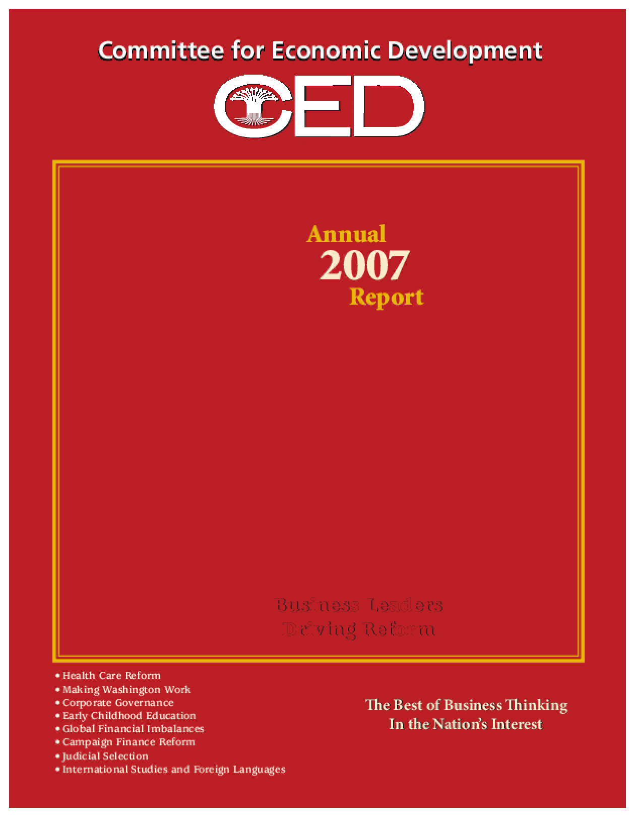 CED's 2007 Annual Report
