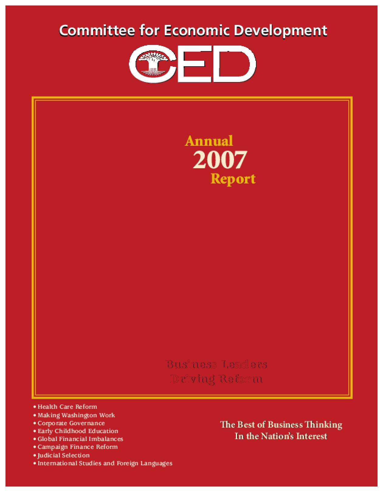 CED's 2007 Annual Report