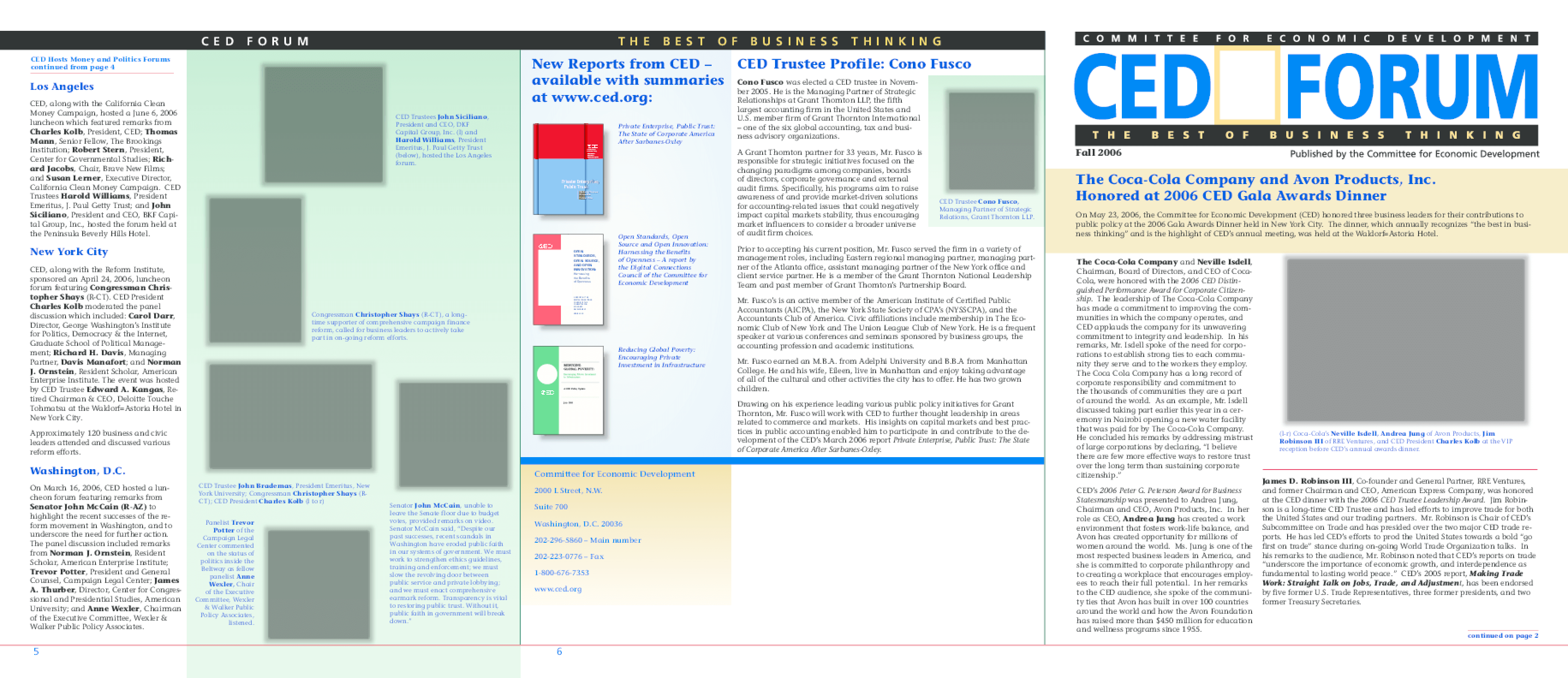 CED FORUM: Fall 2006