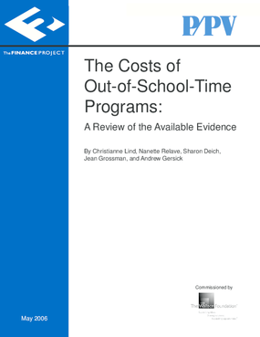 The Costs of Out-of-School-Time Programs: A Review of the Available Evidence