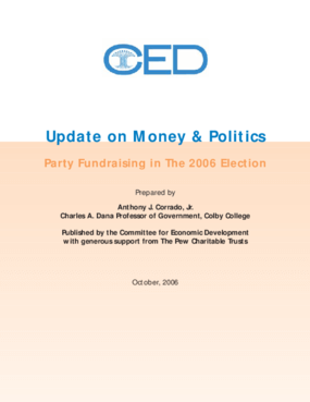 CED Update on Money & Politics: Party Fundraising in the 2006 Election