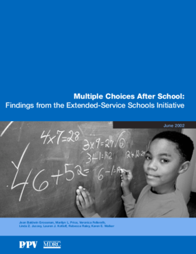 Multiple Choices After School: Findings from the Extended-Service Schools Initiative