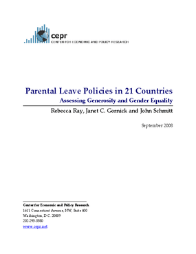 Parental Leave Policies in 21 Countries: Assessing Generosity and Gender Equality