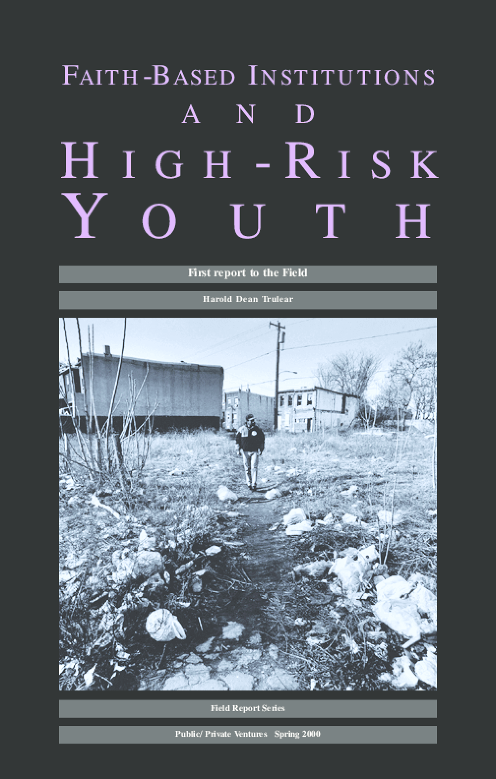 Faith-Based Institutions and High-Risk Youth
