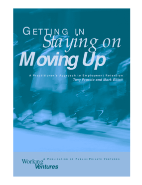 Getting In, Staying On, Moving Up: A Practitioner's Approach to Employment Retention