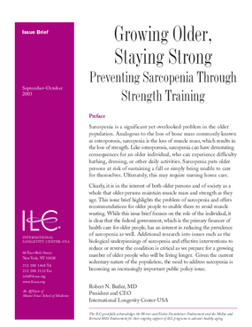 Growing Older, Staying Strong: Preventing Sarcopenia Through Strength Training