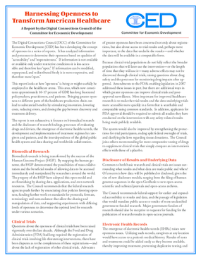 Harnessing Openness to Transform American Health Care - Executive Summary