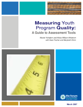 Measuring Youth Program Quality: A Guide to Assessment Tools