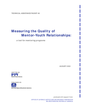 Measuring the Quality of Mentor-Youth Relationships: A Tool for Mentoring Programs