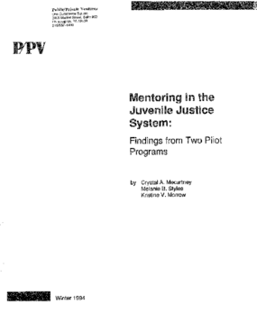 Mentoring in the Juvenile Justice System: Findings from Two Pilot Programs
