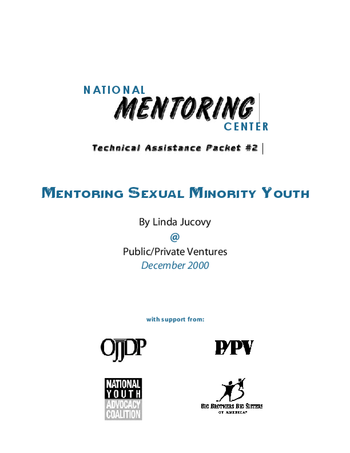 Mentoring Sexual Minority Youth