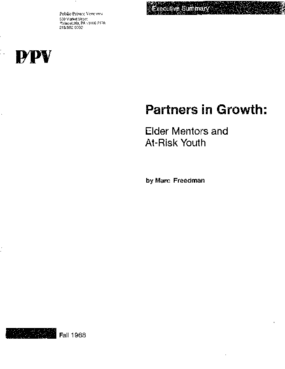 Partners in Growth: Elder Mentors and At-Risk Youth Executive Summary